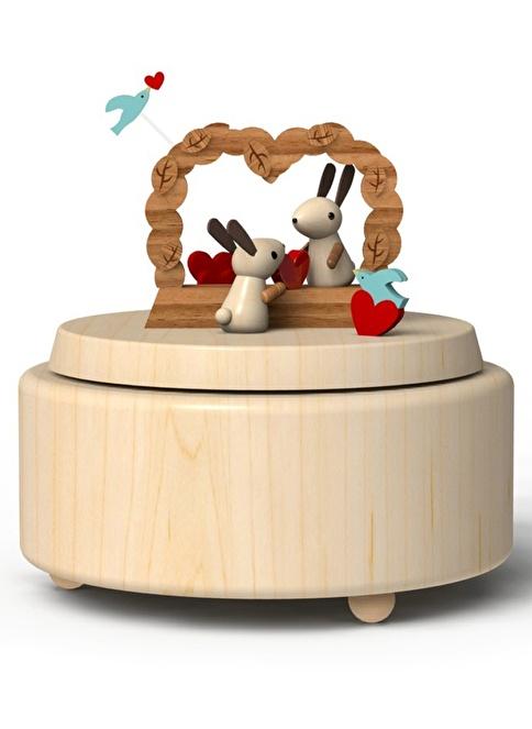 Wooderful Life Aşık Tavşanlar Müzik Kutusu Renkli